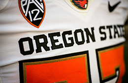 Close up of the OSU Football jersey