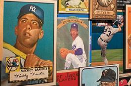 Retro baseball posters of baseball players