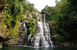 Costa Rica and Panama Canal waterfall