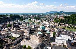 Switxerland Germany Austria Travel city view with river running through it