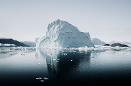 Greenland Glaceri in water
