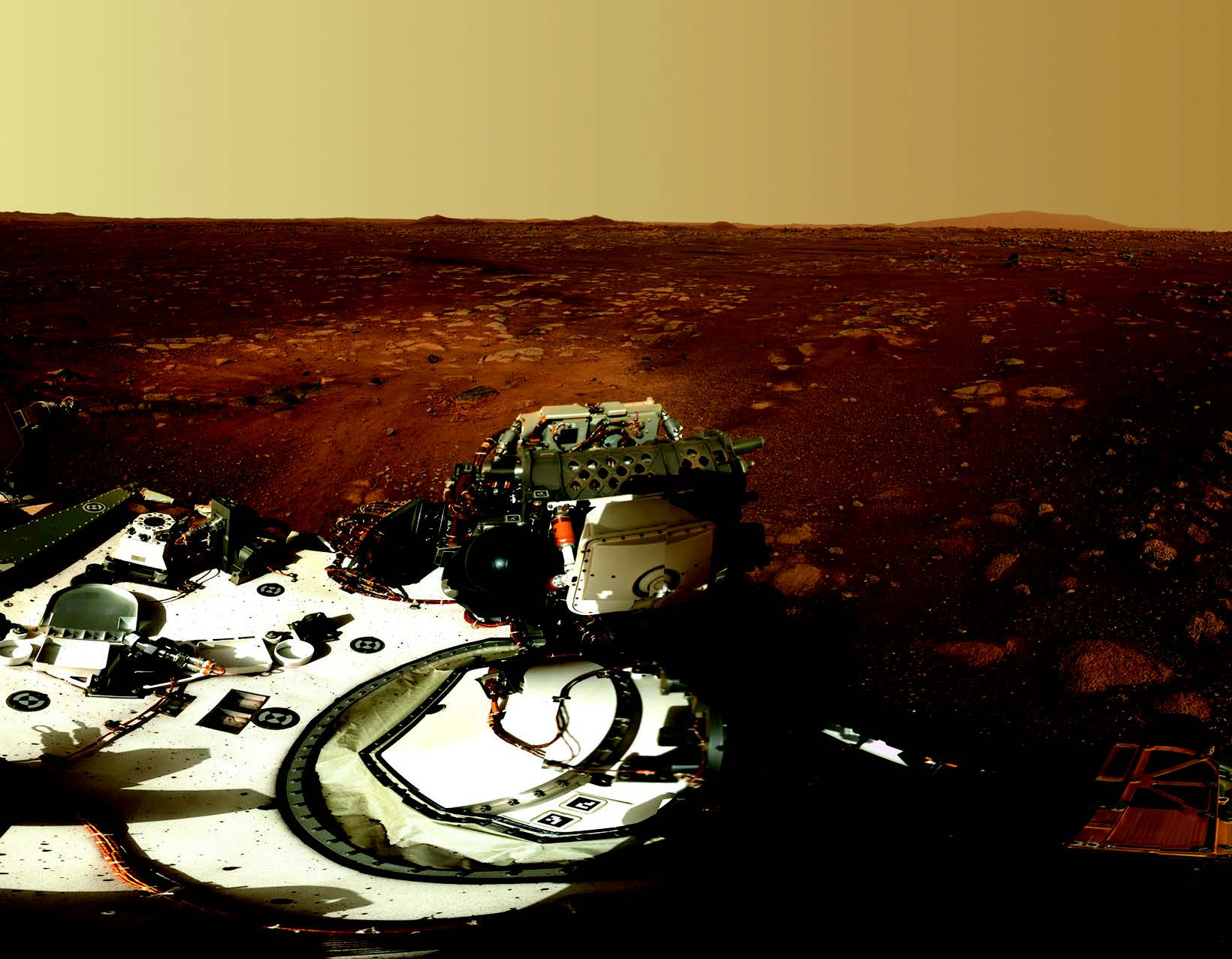 Image of Perseverance rover from Mars